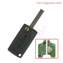 CE0523 Flip remote key 2 button HU83 434Mhz pcf7941 chip ASK for Peugeot 207 307 407 807