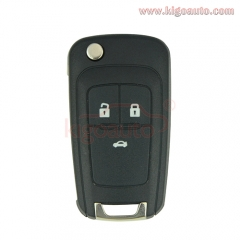2010 2011 2012 2013 2014 Cruze flip remote key 3 button 433 Mhz for Chevrolet car key with ID46 chip