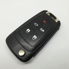 Flip remote key shell 5 button for Buick Lacrosse GL8 2010 2011 2012 2013