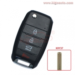 NYODD4TX1306 Flip key shell 4 button TOY49 blade for 2014 2015 Kia Optima