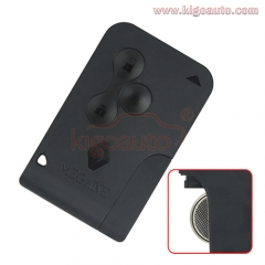 Smart key card 3 button 434Mhz pcf7947 chip for Renault Megane with logo