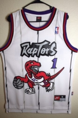 NBA Toronto Raptors Tracy McGrady Tmac Throwback Vintage Home Swingman Jersey