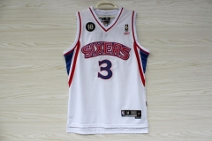 AI Philadelphia 76ers Sixers Allen Iverson Phila Ten Anniversary Swingman Jersey Throwback Retro Vintage Stitched Basketball Clothing
