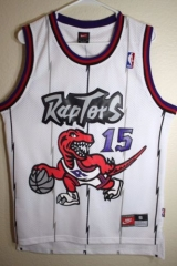 NBA Toronto Raptors Vince Carter 15 Throwback Retro Vintage Home Swingman Jersey