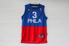 NBA Philadelphia 76ers Sixers Allen Iverson Phila Ten Anniversary Swingman Men Jersey Cheap Retro Throwback Vintage Stitched Basketball Clothing