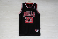 Chicago Bulls Michael Jordan 23 Black Swingman Basketball Jersey