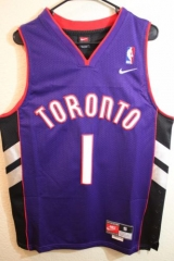 NBA Toronto Raptors Tracy McGrady Tmac Throwback Vintage Purple Swingman Jersey