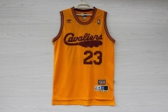 Cleveland Cavaliers Cavs Lebron James 23 Hardwood Classics Cheap Throwback Retro Vintage Swingman Basketball Jersey Gold