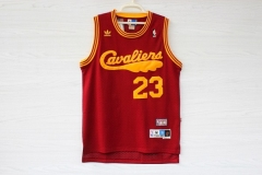 Cleveland Cavaliers Cavs Lebron James 23 Hardwood Classics Cheap Throwback Retro Vintage Swingman Basketball Jersey Red