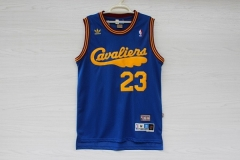 Cleveland Cavaliers Cavs Lebron James 23 Hardwood Classics Cheap Throwback Retro Vintage Swingman Basketball Jersey Blue