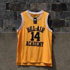 Fresh Princ of Bel Air Jersey 14 Will Smith Carlton Banks Academy Basketball Shirt S - XXL Yellow