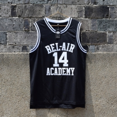 The Fresh Princ of Bel Air Jersey 14 Will Smith Carlton Banks Academy Basketball Shirt S - XXL Black
