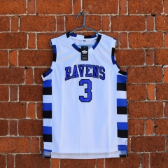 Lucas Scott 3 One Tree Hill Ravens Movie Basketball Jersey White S-2XL