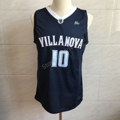 2018 New #10 Donte Divincenzo Villanova Blue College Throwback Basketball Jersey Men's Embroidery Stitched Jerseys