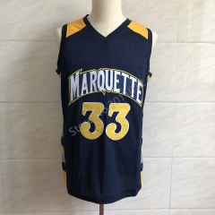 2018 Jimmy Butler #33 College Marquette Golden Eagles Throwback Basketball Jersey Men's  Embroidery Stitched Jerseys