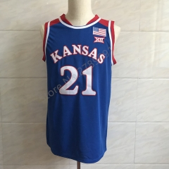 #21 Joel Embiid Kansas Jayhawks KU College Basketball Jersey Men's Embroidery Stitched Jerseys