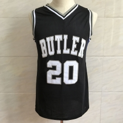 #20 Gordon Hayward Butler University Dark Color Basketball Jersey Men's Embroidery Stitched Jerseys
