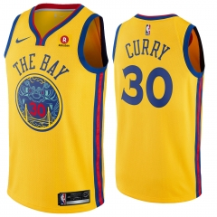 "New Stephen Curry Golden State Warriors""The Bay"" Throwback  Swingman Jersey"