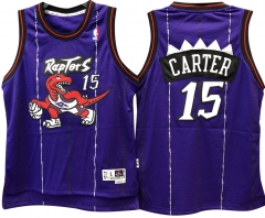 cf96db455e3 Vince Carter Raptors Jersey Toronto #15 Throwback Retro Vintage Purple  Swingman Jersey ...