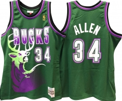 RAY ALLEN MILWAUKEE BUCKS NBA HARDWOOD CLASSICS THROWBACK ROOKIE SWINGMAN JERSEY