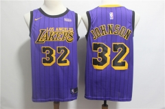 Men's Los Angeles Lakers Magic Johnson Throwback Swingman Jersey