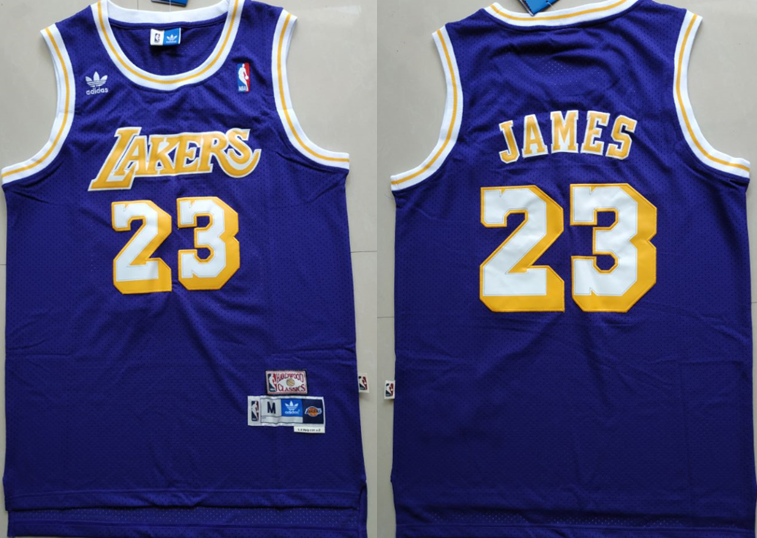 Men's Los Angeles Lakers LeBron James Throwback Swingman Jersey