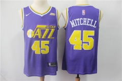 Men's Utah Jazz Donovan Mitchell Throwback Swingman Jersey