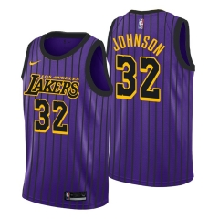2018-2019 New Season Magic Johnson Los Angeles Lakers Swingman Jersey