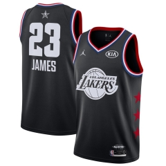 Men's Los Angeles Lakers LeBron James Black 2019 All-Star Game Finished Swingman Jersey
