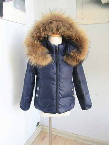 BC01 kids abd adult size  puffer jacket with fur trim