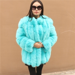 2018 Wholesale Women Real Fox Fur Coat