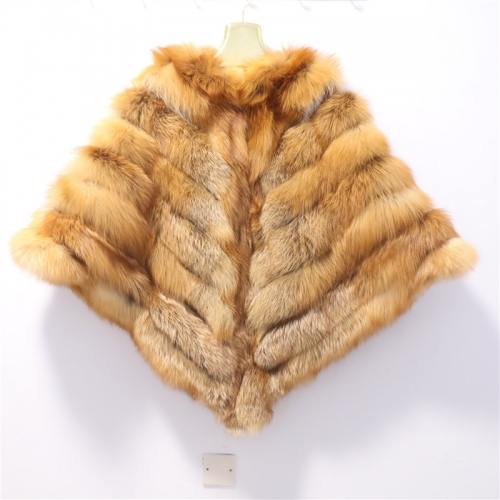 2018 Winter Women Real Fox Fur Shawl