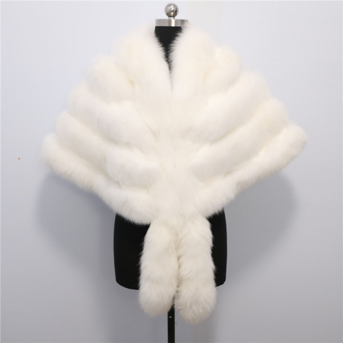 2019 New Women Fox Fur shawl