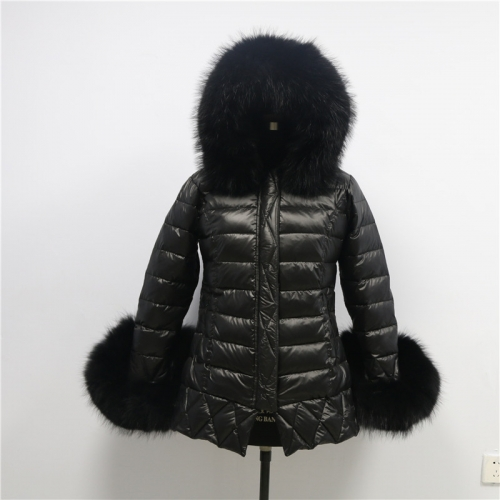 BC03R Down jacket  With Fur Hood and Cuffs