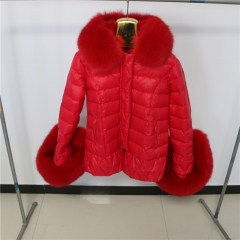 BC03R Down jacket  With Fox Fur Hood and Cuffs