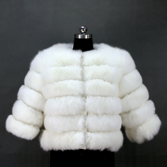 High quality 2018 fashion fox fur coat custom style