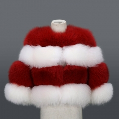 2018 new style Christmas kids fox fur coat
