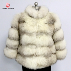 Wholesale cross fox fur coat for women warm fur coat