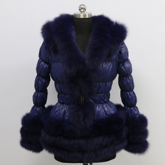 Down jacket  With Fox Fur Hood for women