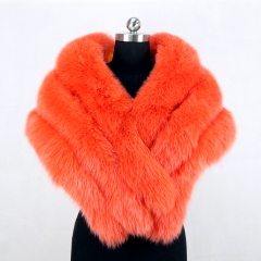 Free shipping 2018 winter new style fashion real fox fur shawl for ladies