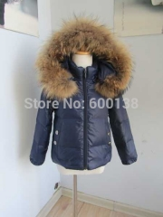 new style winter child  down coat & popular down jacket with fox fur trim for children boys and girls