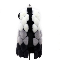 new style fashion real silver fox fur vest  1319