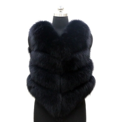 Free shipping new style fashion wholesale price best quality hood fox fur gilet