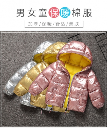 new style waterproof winter anti-down-padding child coat