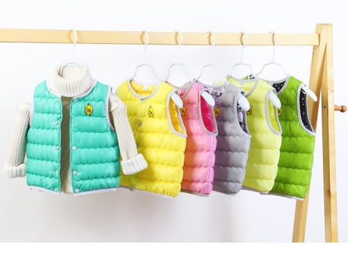 new style winter anti-down-padding child vest