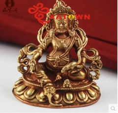 Hide the Nepali hand brass gold yellow mammon small figure of Buddha,Hide pull color wave pocket Buddha car furnishing articles