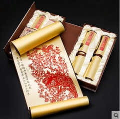 Paper-cut paintings, Handmade silk, Chinese style gifts
