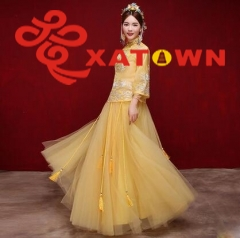 Bride wedding dress, Chinese dress, cheongsam
