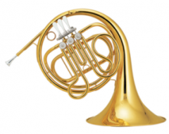Bb Junior French Horn Single Row Brass Body Chines...