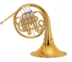 Bb/A French Horn Single Row Four Valve Keys Brass ...